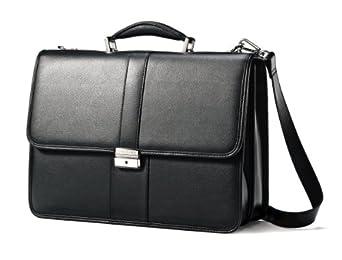 (突降)新秀丽Samsonite Leather Flapover Briefcase 真皮公文包 $77.32