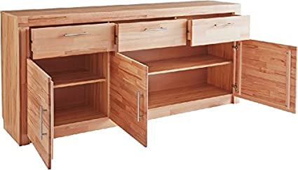 3-3-5-470: made in BRD - Sideboard - Anrichte, in kernbuche teil-massiv, geölt