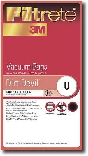 Type U Dirt Devil Vacuum Cleaner Replacement Bag (3 Pack)