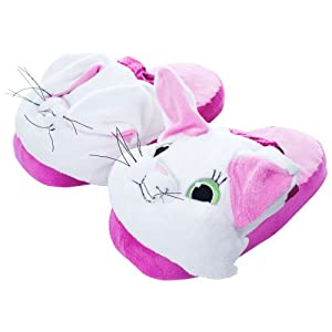 Silly Slippeez Kitty Cat Plush Slippers