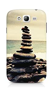 Amez designer printed 3d premium high quality back case cover for Samsung Grand Neo Plus (Nature Ocean Beach Overlap Pebbles)