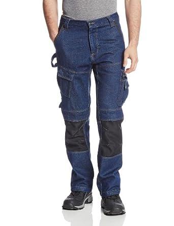 Caterpillar Men's Big Trademark Jean, Rinsed Denim, 30x30