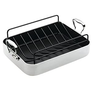 CHEFS DESIGN 1216 16-Inch French Roaster with Roasting Rack