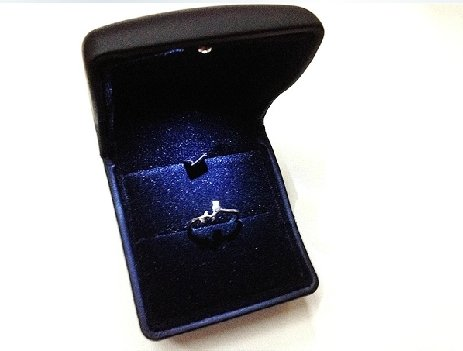 Finex Black PU Leather with LED Jewelry Gift Box Case for engagement ring, Ring Earring Pendant & Outer box