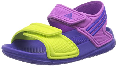 adidas, Ciabatte da spiaggia bambini flash pink s15/night flash s15/semi solar yellow, Multicolore (Mehrfarbig (Flash Pink S15/Night Flash S15/Semi Solar Yellow)), 22
