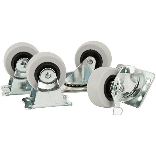 All-in-One Caster Pack - 2 inch TPR Casters, 4 pack, Load Rating 360 lbs