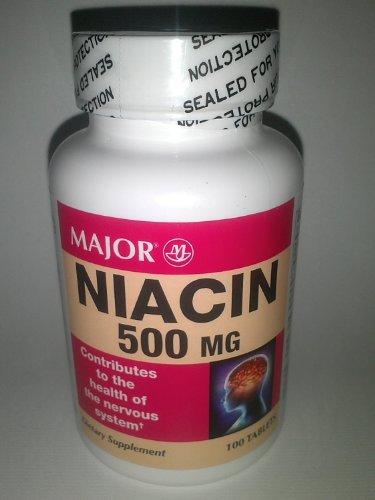 Major Generic Niacin 500 Mg B Vitamin Dietary Supplement Pack Of 6
