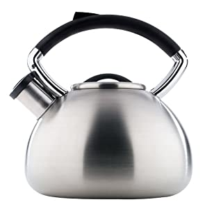 Copco Virtue 2.3 Quart Brushed Stainless Steel Teakettle by Copco