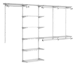 Rubbermaid Configurations Custom Closet Organizer, Deluxe, 4 to 8 Foot, Titanium (FG3H89DWTITNM)