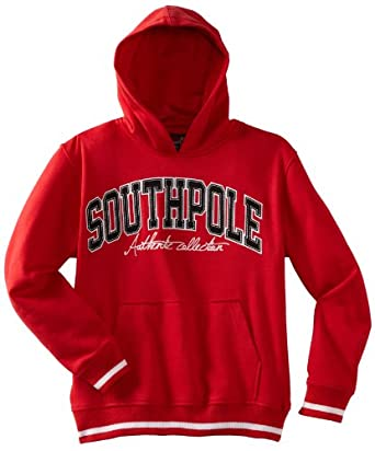 Southpole - Kids Big Boys' Hooded Logo Pullover Sweatshirt, Red, Small