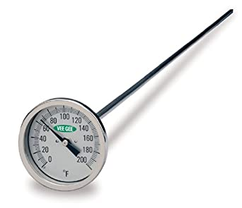 VeeGee Soil and Compost Test Dial Thermometer with Glass Face