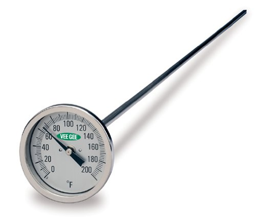 Awardpedia veegee dial compost thermometer with glass for Soil thermometer