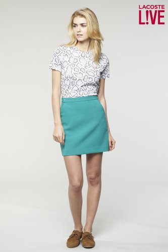 L!ve Double Face Slant Pocket Skirt