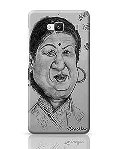 PosterGuy Redmi 2 / Redmi 2 Prime Case Cover - Lata Mangeshkar Music, Personality,Personalities, Legend