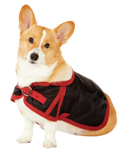 Fashion Pet Classic Country Dog Coat, Black, X-Large