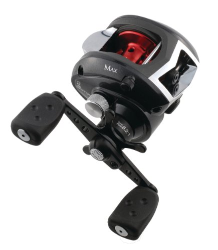 Abu Garcia Black Max Low Profile Reel, 12-Pound/160-Yard Capacity, Left-Hand