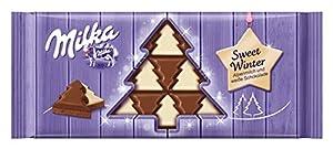 Milka Tannenbaum Tafel, Alpenmilchschokolade mit weißer Schokolade, 100 g, 10er Pack (10 x 100 g)