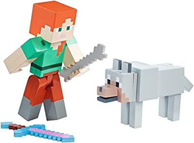 "Minecraft Armor Up Alex 5"" Figure from Mattel"