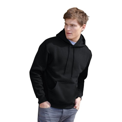 Fruit Of The Loom Mens Heavyweight Hooded Sweatshirt / Hoodie (S) (Chocolate)
