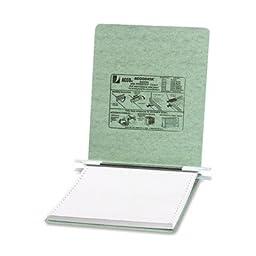 Pressboard Hanging Data Binder, 9-1/2 x 11 Unburst Sheets, Light Green