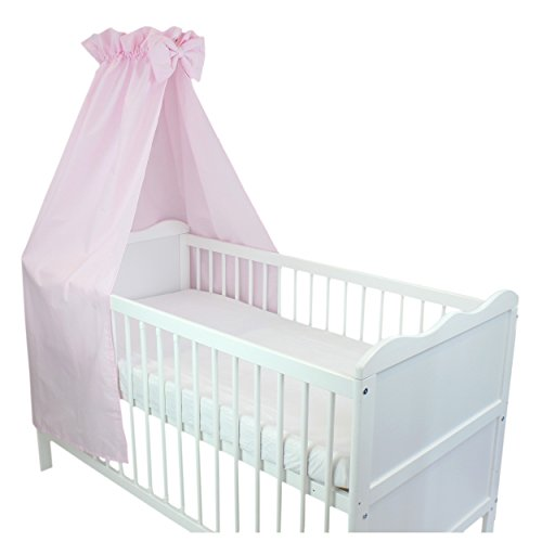 babybett himmel baumwolle baby betthimmel kinderbett babybetthimmel mit schleife eule rosa blau. Black Bedroom Furniture Sets. Home Design Ideas