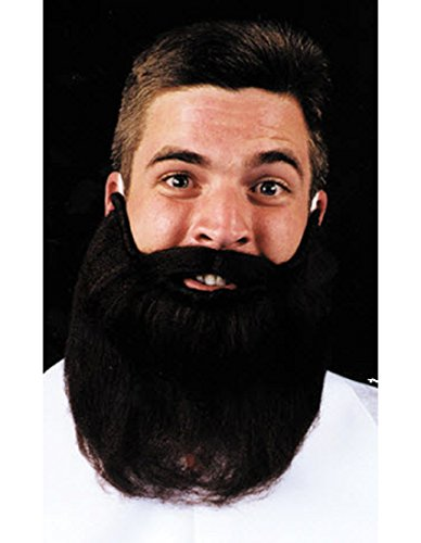 [Mustache Beard Brown 8In Accessory] (Brown Mustache And Beard Costume)