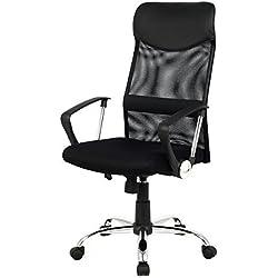 Giantex Modern Ergonomic Mesh High Back Executive Computer Desk Task Office Chair Black by Giantex