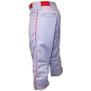 Buy Don Alleson Baseball Pant With Piping - Youth (EA) - White Scarlet, Large