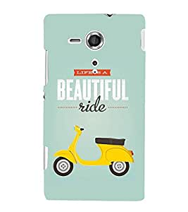 Life Is A Beautiful Ride 3D Hard Polycarbonate Designer Back Case Cover for Sony Xperia SP :: Sony Xperia SP M35h