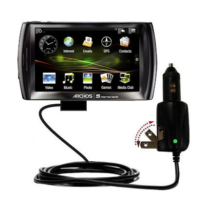 Car and Conversant with 2 in 1 Combo Charger for the Archos 5 Internet Tablet with Android - uses Gomadic TipExchange Technology