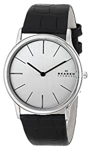 Skagen Men's 858XLSLC Theodor Quartz 2 Hand Stainless Steel Black Watch