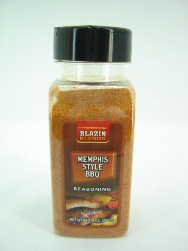 Blazin Blends Memphis Style Barbecue Seasoning (3 Pack, 9 Oz Bottles)