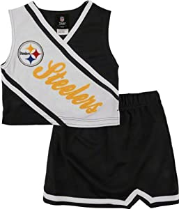 Pittsburgh Steelers Toddler 2-Piece Cheerleader Set from SteelerMania