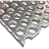 "Online Metal Supply 3003-H14 Aluminum Perforated Sheet 1/8"" x 12"" x 12"" - 1/2 Holes (48% Open)"