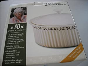 Paula Deen 2 Qt Covered Round Stoneware Casserole 51895