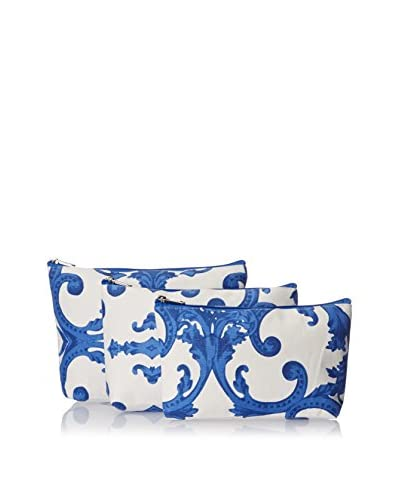 Indian Summer Women's Regal Cosmetic Bags (Set of 3), Ink Blue