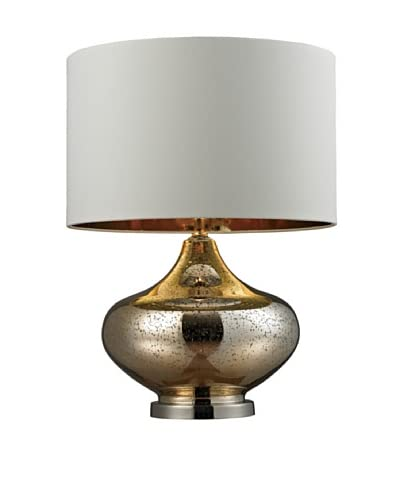 Artisitic Lighting Table Lamp, Gold Mercury Glass, Polished Nickel