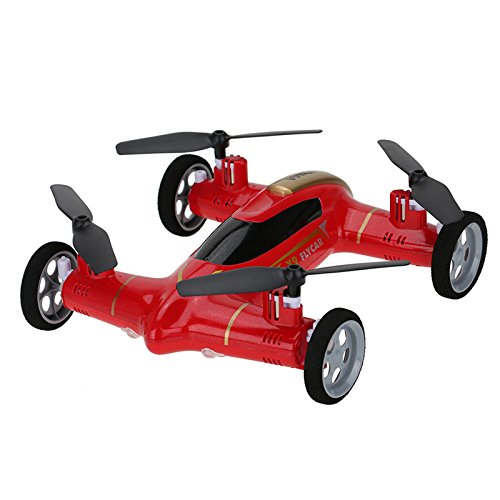 Cheerwing Syma X9 Fly Car 2.4Ghz 4CH RC Quadcopter Drone Car with 6-Axis Gyro (Red) - Ship from USA