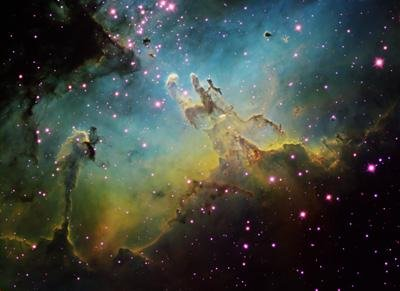 Wallmonkeys M16 the Eagle Nebula Peel and Stick Wall Decals WM246255 (30 in W x 22 in H) (Cosmic Wall Decals compare prices)