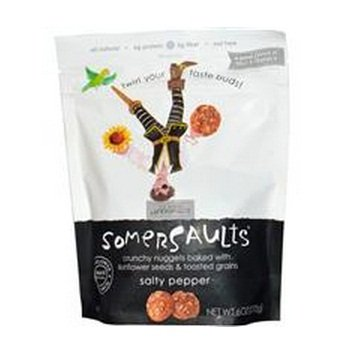 1 Piece of Somersaults, Sunflower Seed Snack, Salty Pepper, 6 oz (170 g) by Food
