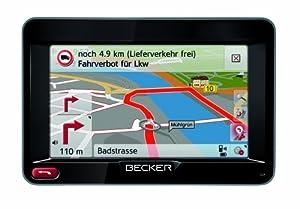 "BECKER Transit 45 Truck & Camper Sat Nav, 10.9 cm (4.3"") Display, Europe Maps (44 Countries), Map Update Guarantee, Truck & Camper Alerts, SituationScan, Bluetooth, Black/Cool Gray"