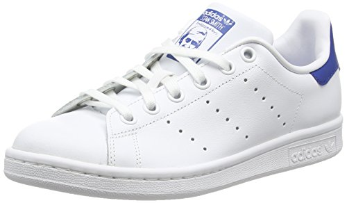 adidasStan Smith Junior - Scarpe da Ginnastica Basse Bambino , Bianco (Weiß (Ftwr White/Ftwr White/Eqt Blue S16)), 38 EU