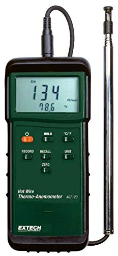 Extech 407123-NIST Hot Wire Thermo Anemometer with NIST