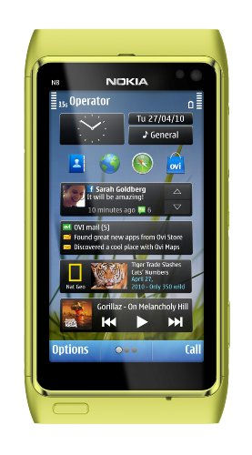 Nokia N8 Unlocked GSM Touchscreen Phone Featuring GPS with Voice Navigation and 12 MP Camera--U.S. Version with Warranty (Green)