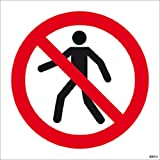 No Pedestrians Symbol Sign- High quality print and materials. Fast shipping!
