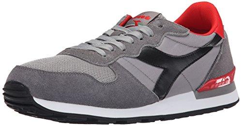 Diadora Men's Camaro Running Shoe, Gray/Black, 9 M US
