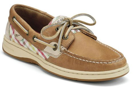 Sperry Top-Sider Women's Bluefish Boat Shoe (8.5, Linen/Coral Seersucker Plaid)