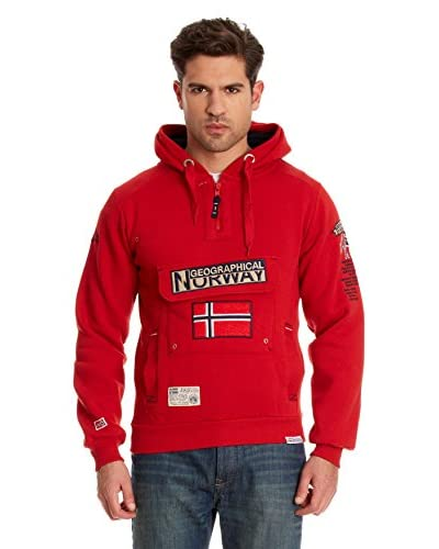 Geographical Norway Felpa Cappuccio Geographic [Rosso]