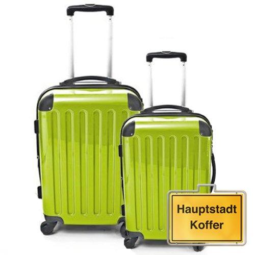HAUPTSTADTKOFFER 2er Set Apfelgrün (87Liter/130Liter)