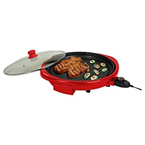MaxiMatic EMG-980R Elite Gourmet Electric Indoor Grill, 14-Inch, Red by Elite Cuisine